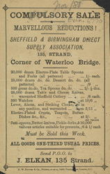 Advert for the Sheffield & Birmingham Direct Supply Association